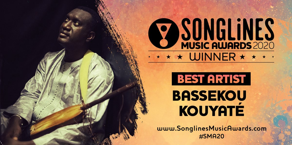 Songlines is delighted to announce that @Bassekou Kouyaté is the winner of the BEST ARTIST category in the Songlines Music Awards 2020 for his album Miri with Ngoni ba on Outhere Records. Discover all the winners + listen to the official playlist👉 songlines.co.uk/awards/2020 #SMA20
