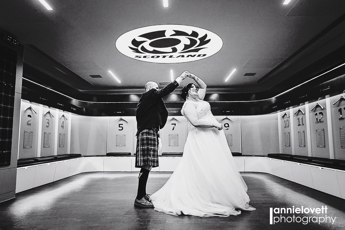 Our final day of wedding inspiration for you! How about a photo shoot in the Scotland Team dressing room! One to wow your friends and family with! #weddings #weddinginspo #asone #btmurrayfield #elioruk #safetrustedgoodtogo #eventprofs #weddingplannerspic.twitter.com/xILwhqaUC4