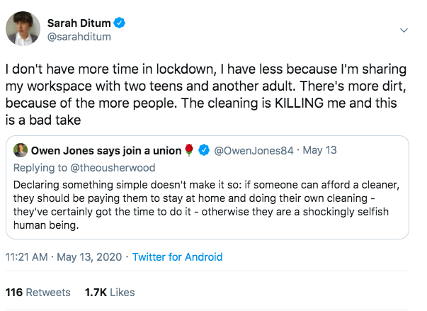 The white feminist cleaner discourse has been getting to us. We're looking for pitches from WoC/NBPoC cleaners, or writers who have family who are cleaners that they can interview. Send pitches to charlie@gal-dem.com and leah@gal-dem.com https://t.co/K0VslZYQfE