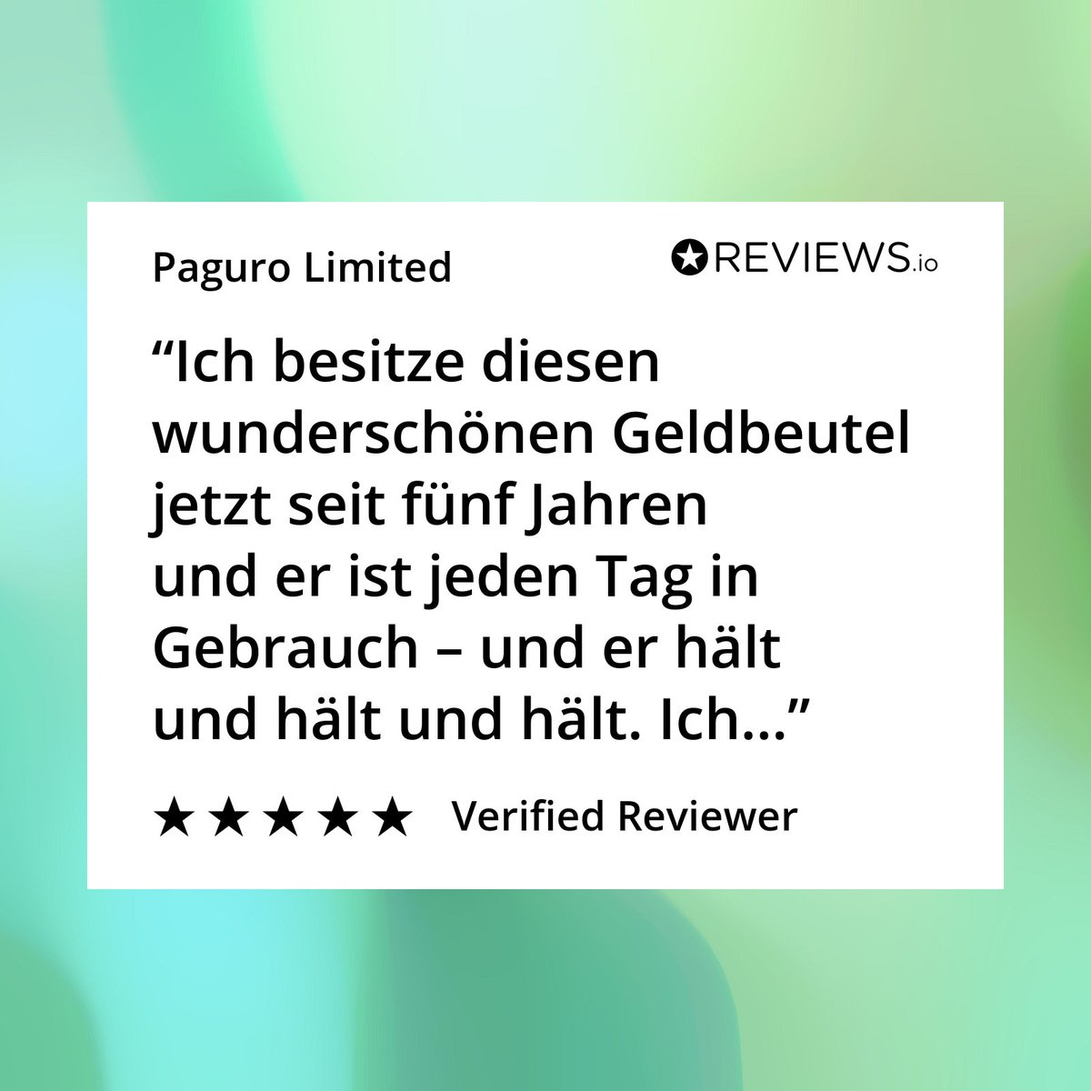 Vielen Dank für die tolle Bewertung!It's an amazing feeling to receive a review from a customer who is still loving their purse after 5 years! https://buff.ly/2LqSmwX  . #Geldbeutel #veganpurse #sustainablefashion #madetolastpic.twitter.com/endepndUib