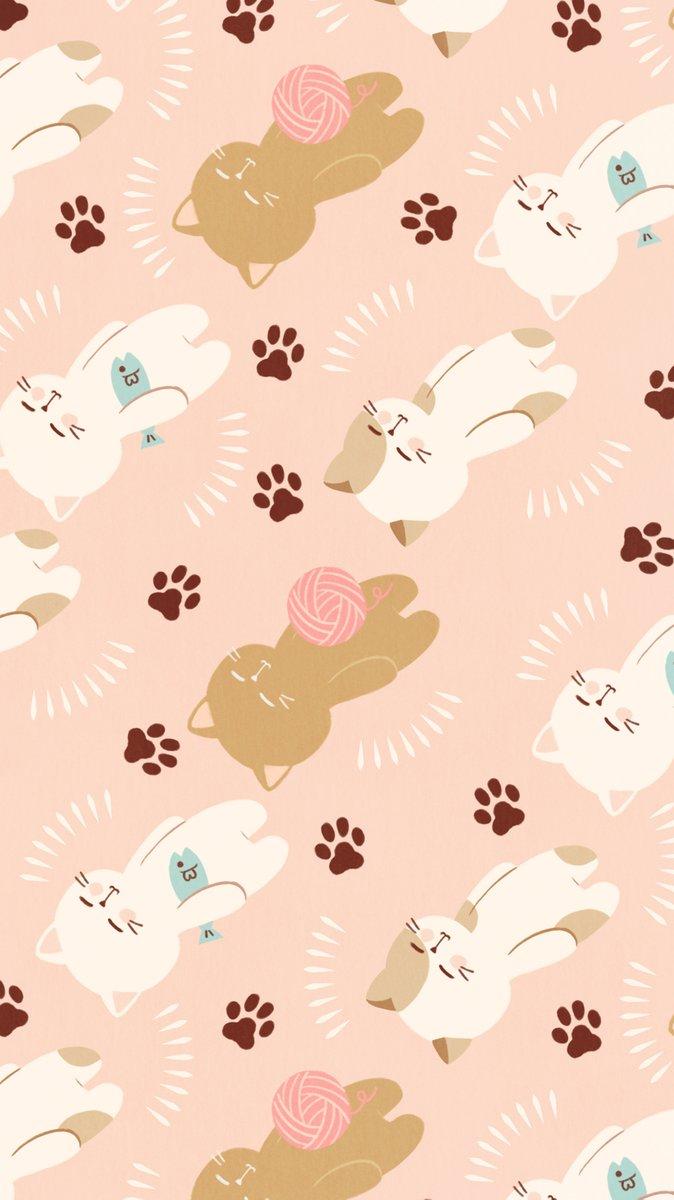 Omiyu みゆき בטוויטר 色違いverおやすみねこ壁紙 Illust Illustration 壁紙 イラスト Iphone壁紙 ねこ 猫 Cat 小物入れで使用した柄です