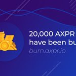Image for the Tweet beginning: 20,000 $AXPR have been burned