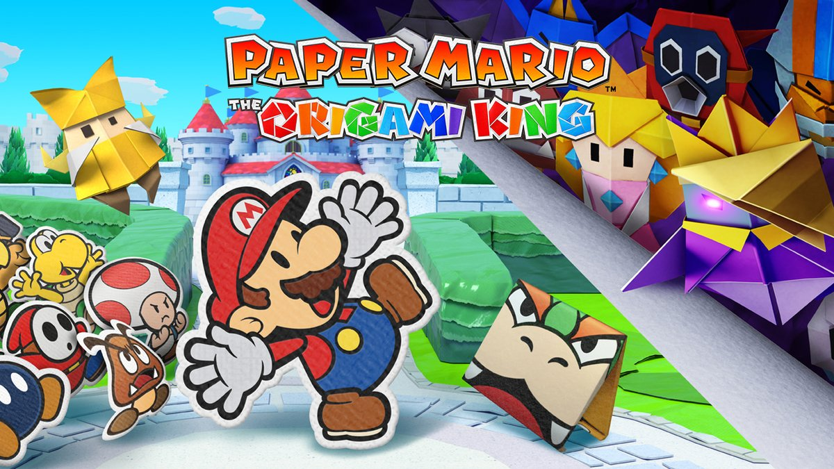 The Paper Mario series arrives on #NintendoSwitch with an origami twist! What evil paper shenanigans does the Origami King have planned? Find out when #PaperMario: The Origami King releases on 7/17!