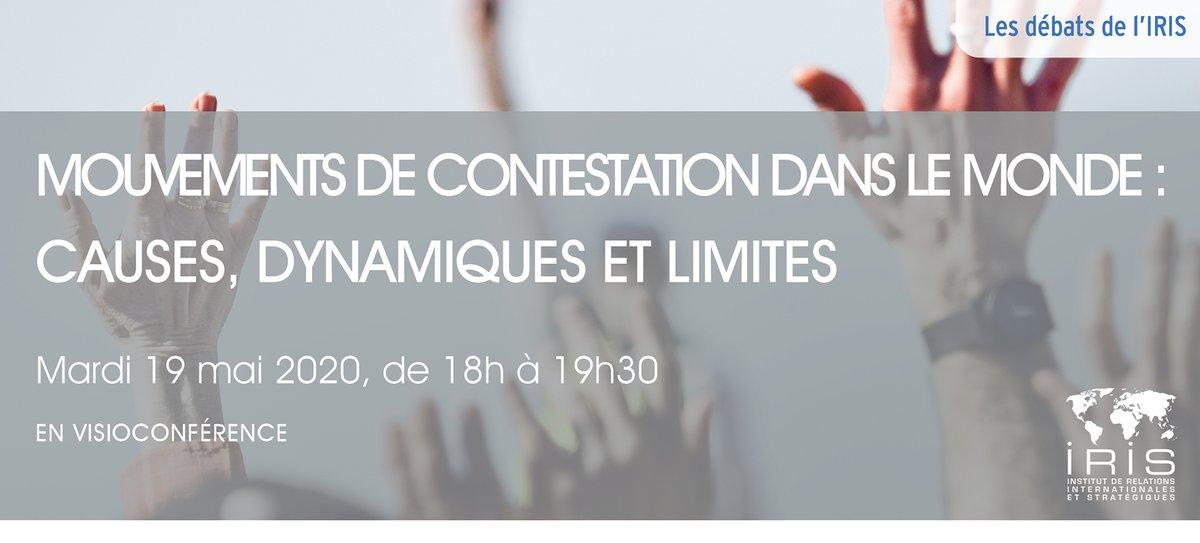 📅 Visioconférence à venir : 19/05 de 18h à 19h30 ➡️ #Mouvements de #contestation dans le monde : causes, dynamiques et limites  Visioconférence gratuite, inscription obligatoire. https://t.co/xyg6Nsa0Zn
