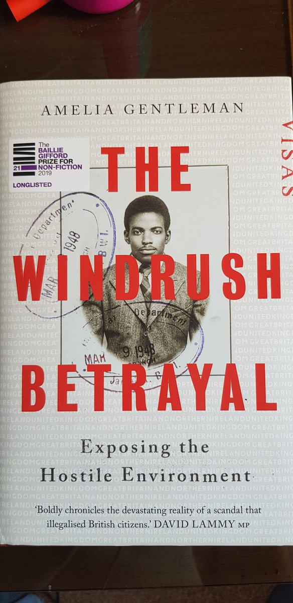Highly recommend The Windrush Betrayal by Amelia Gentleman. Hugely insightful into the workings and mindset of the government and Home Office. Many sentences are like big clanging alarm bells, with relevance to todays big issue that reveals a continuing thread Excellent work.👇