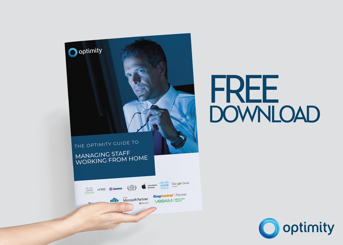 The Optimity Guide To Working from Home is packed with great tips for being productive and getting the most out of your working day. Whats more, its completely free. #workingfromhome #flexibleworking #coronavirus #transformation #digitaltransformation #cloud #homeworking