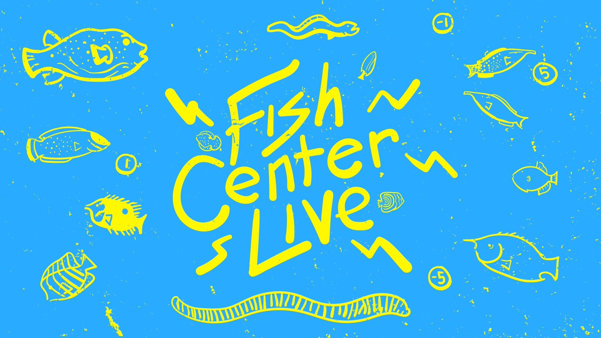 I got my first drawing tablet delivered yesterday, and I tested it out drawing the cast of America's favorite marine-themed call-in game show @FishCenterLive