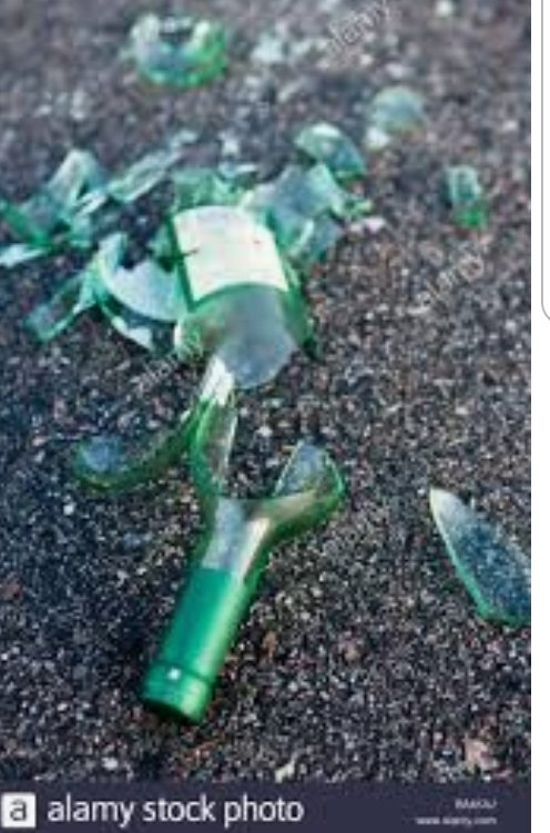 There is a hotspot that the teenagers always hangout even in lockdown. The news talked about the deposit scheme on small plastic bottles and how it would stop littering. Beer bottles have a deposit on them and this spot was terrible the worst is that they smash them.