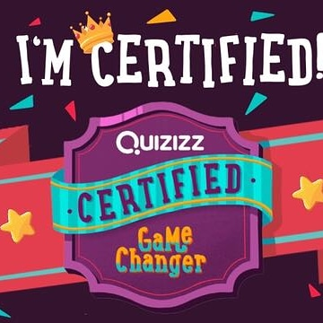 I'm super excited! I am happy to announce that I am a @quizizz Certified Game Changer!