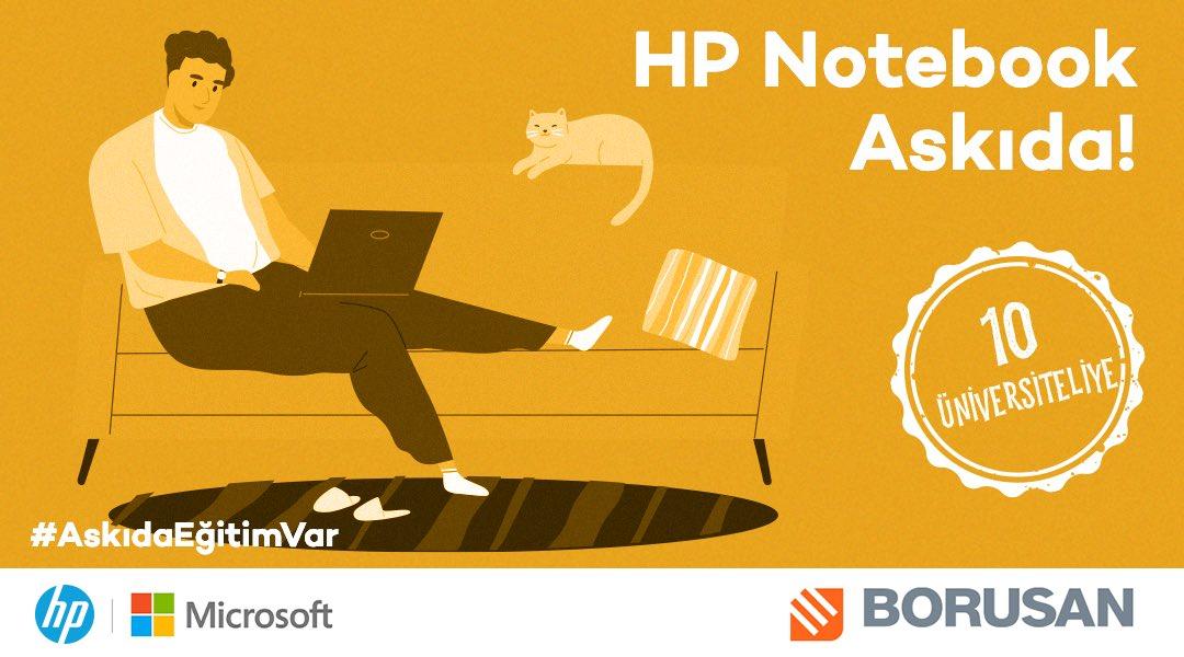 Borusan desteğiyle gerçekleştirdiğimiz #AskıdaEğitimVar projesi kapsamında 10 adet HP Notebook daha askıda! Askıdan almak için, @askidanevar ve @borusanholding hesaplarını takip et, bu tweet'i RT'le ve mention olarak #BeraberAşacağız hashtag'i ile bir arkadaşını etiketle! https://t.co/tQc1Laeg3M