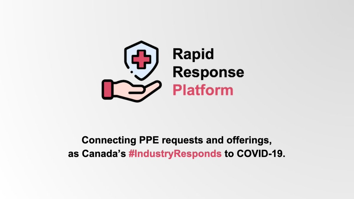BASF is proud to support Rapid Response Platform, a matching platform that connects people to #COVID19 related supplies. Learn more about this initiative and participate at https://t.co/02OmE8n4jo #IndustryResponds #ChemistryFightscovid https://t.co/yhcX1CYeuy