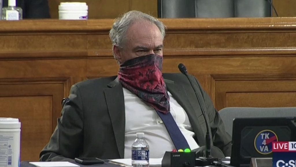 Tim Kaine's tie-dyed bandanna was one of the Senate's many mask style statements
