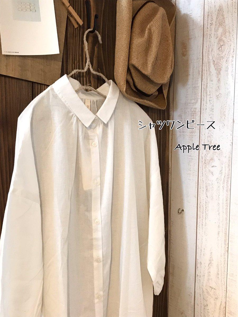 薄手の綿麻生地を使用した 襟付きワンピ 前釦を開けて羽織りとしても 着回しができます  スラッシュポケット付き。 8分袖になっています。  #Apple Tree #apple tree #滋賀雑貨屋 #滋賀雑貨店 #滋賀 #ハンドメイド #ナチュラル #ナチュラル服 #リネン #リネン服 #ワンピース #シャツワンピース #綿麻pic.twitter.com/GXAqhk7pWT