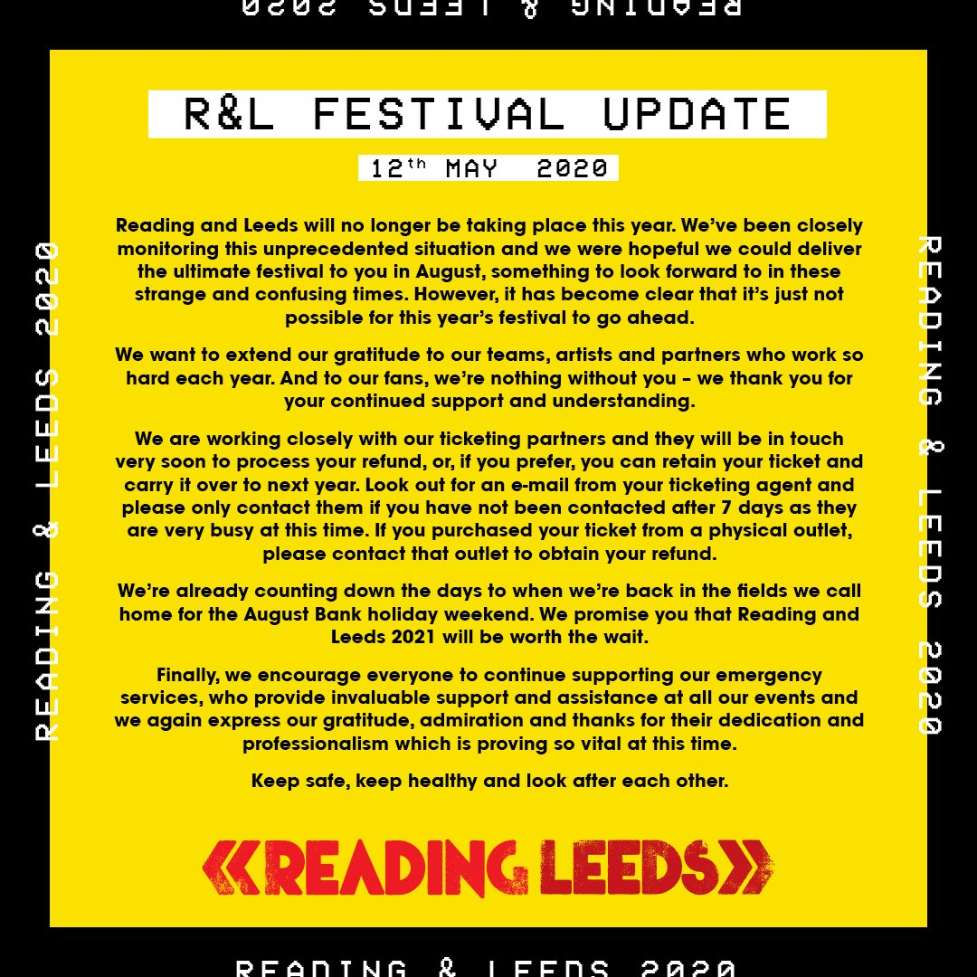 Leeds Festival 2020 has been canceled