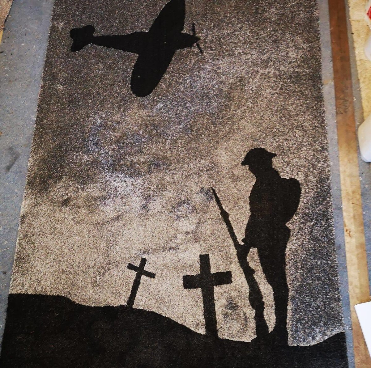 Some more carpet art by fitter member Alec Torbet