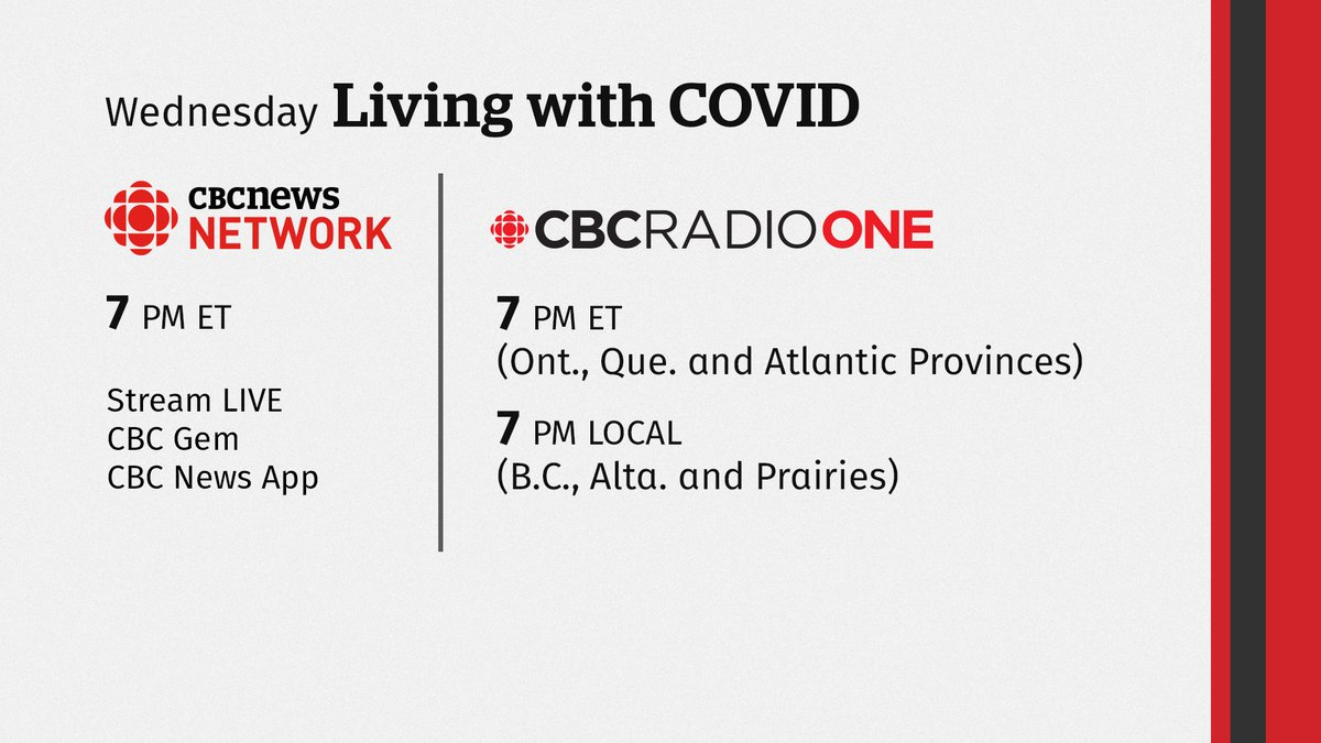 What's next for your money, your job & your future post #COVIDー19? Tomorrow night @RosieBarton @duncanmccue host a two-hour virtual town hall on CBC News Network and CBC Radio One. Be a part of it by sending your questions now to COVID@cbc.capic.twitter.com/D4uXq5yI0h