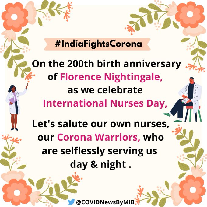 Today is #InternationalNursesDay , the 200th birth anniversary of Florence Nightingale.