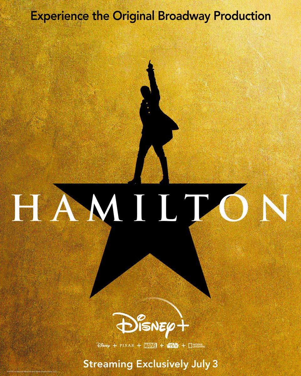 Surprise! The original Broadway production of Hamilton, filmed LIVE onstage at the Richard Rodgers Theatre, is now coming exclusively to @DisneyPlus this July 3rd. Shout it to the rooftops! #Hamilfilm