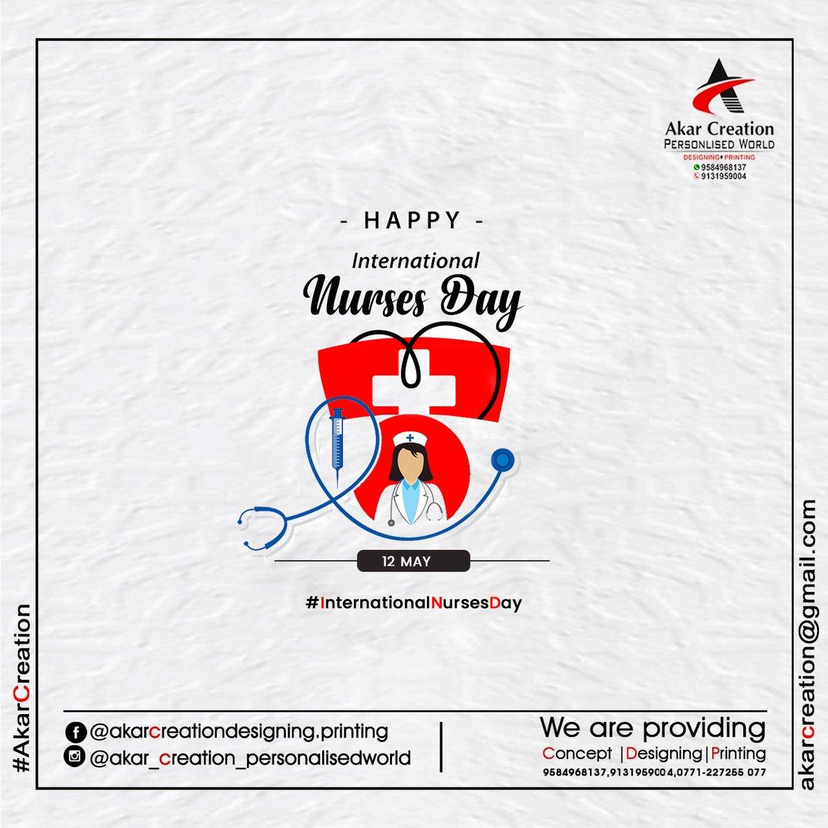 Happy International Nurses Day #internationalnursesday #nursesday #AkarCreation #Concept #Designing #Printing #Advertising #Raipur #Chhattisgarh #graphicdesigner Kunwar Singh Rajput Call Now - 9131959004,9584968137
