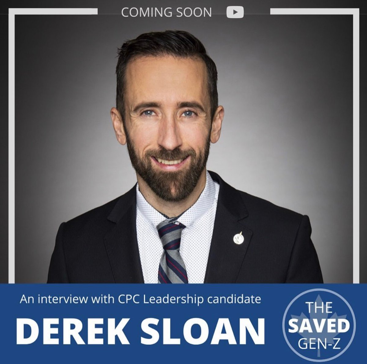 Our first Video drops today! It will be a one on one interview with Conservative Leadership Candidate Derek Sloan! STAY TUNED!  #cdnpoli #cpcldr #Conservative #dereksloan #youngconservative pic.twitter.com/UbuK5yC14S