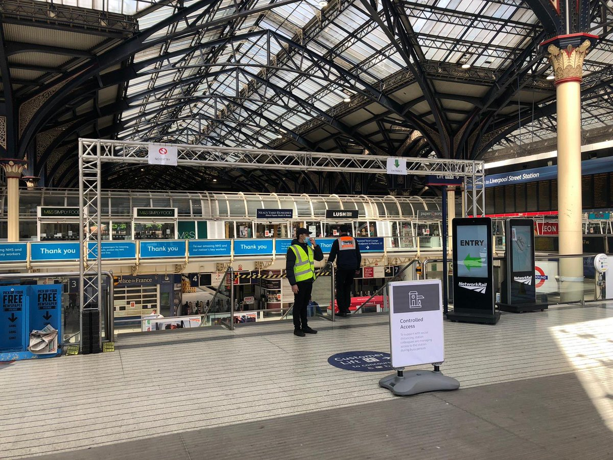 ➡️⛔️Our staff have created a one way system through the station with temporary signage to help you keep a safe distance from others. Please follow the signs and guidance from station staff to help keep you safe.