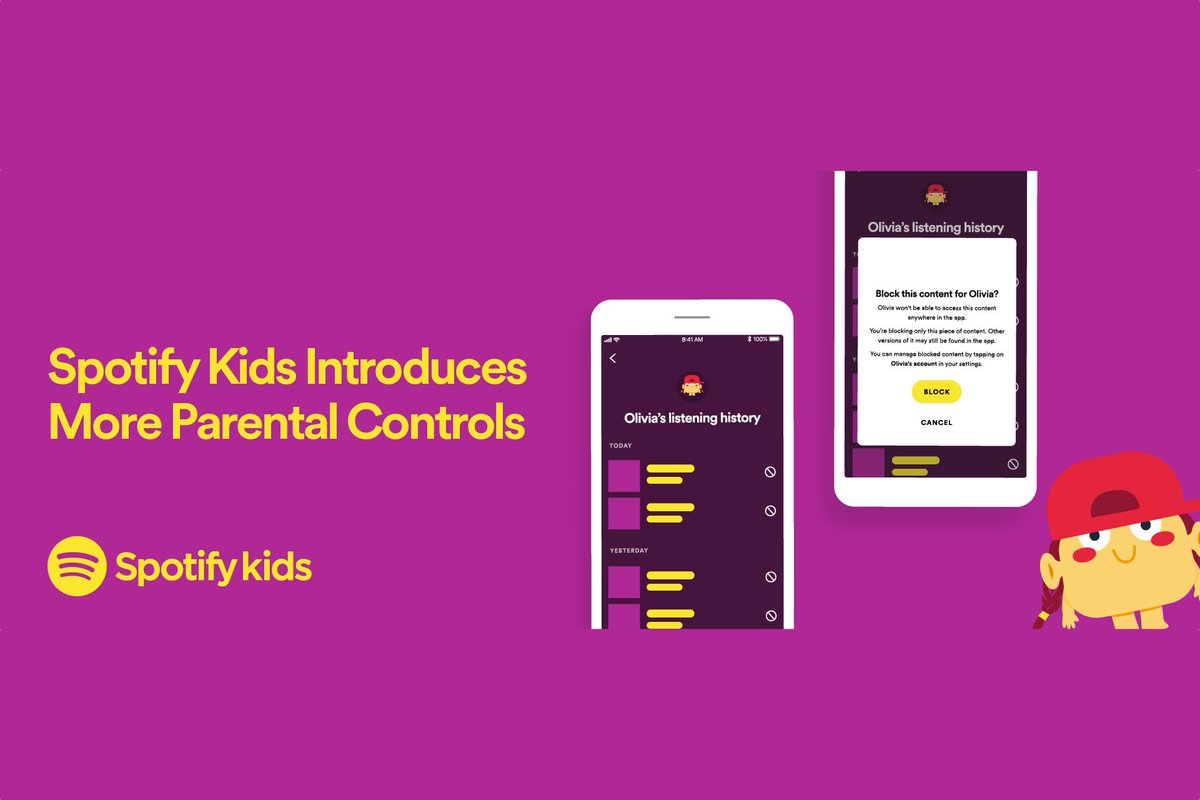 Spotify now lets parents access their kids' listening history and block content
