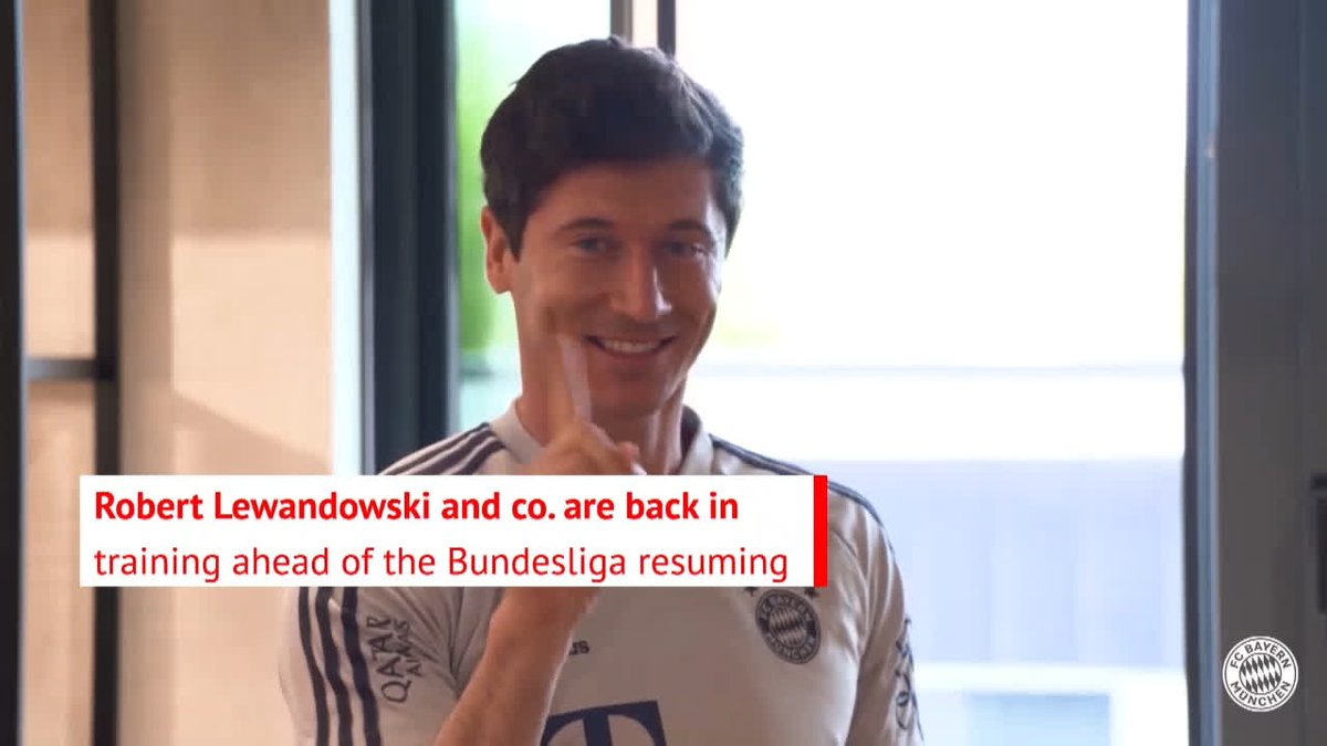 Robert Lewandowski looks like he had a great time making this hygiene video with his Bayern Munich team-mates 😷