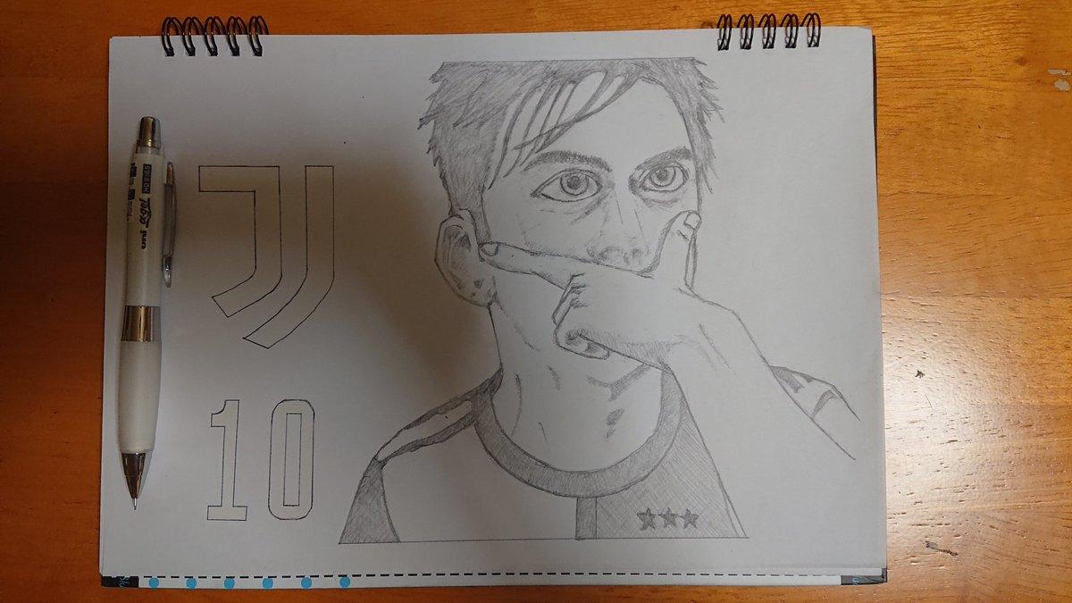 試し描き  初めて絵を描いてみたので初投稿です。  遂にトレーニング開始したディバラさん。早くユーベの試合が見たいぜ。  #ディバラ #juventus https://t.co/4EIl336zWa