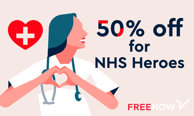 It's International Nurses Day today. You think clapping for your carers was loud? It's time to make some noise for the nurses making the world go round!   If you're an NHS professional, choose the #NHSHeroes option on the FREE NOW app and get 50% off your taxis. https://t.co/xdQW4zoNhh