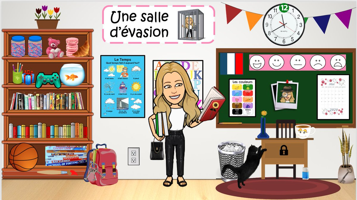 Oh no! You're trapped! Search the escape room for links to videos of Mlle Daley practicing our structures. Each video will also contain a letter. Find all the letters to unscramble a French word. Will you be able to escape? Bonne Chance! @ChebuctoH @HarrietsfieldS https://t.co/sHMz4WNs1i