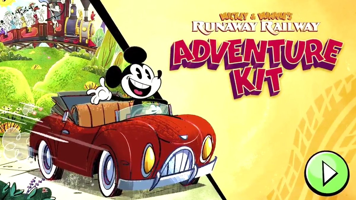 RT DisneyParks: Race over to #DisneyNOW to play Mickey & Minnie's Runaway Railway: Adventure Kit, inspired by the new WaltDisneyWorld Resort attraction. 🚂🚂🚂#MouseRulesApply(that means anything goes!)  #DisneyMagicMoments