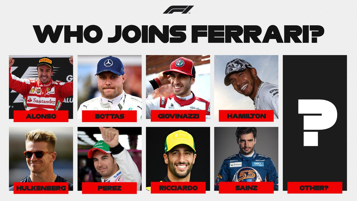 Who do you think will replace Sebastian Vettel at @ScuderiaFerrari?  #F1pic.twitter.com/pfs6kxMzfS