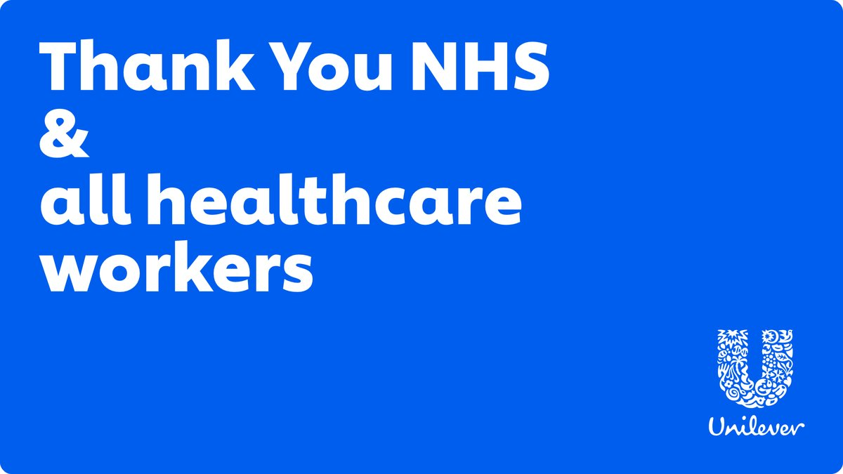 On #InternationalNursesDay, we'd like to thank the amazing NHS and all the healthcare workers here in the UK & Ireland, and around the world, for the care they continue to give to save lives and keep us all safe. From all of us here at Unilever, Thank You.💙 https://t.co/W9QTNMOKs9