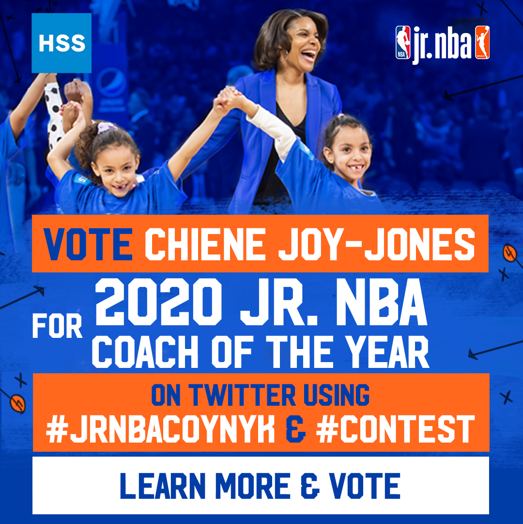 DAY TWO- Vote Now for JR. NBA COACH OF THE YEAR!!  Vote now for Chiene Joy-Jones, your @HSpecialSurgery 2020 Junior Knicks Coach of the Year to become the 2020 Jr. NBA Coach of the Year!!  Tweet #Contest #JRNBACOYNYK https://t.co/aGDwM4G9po