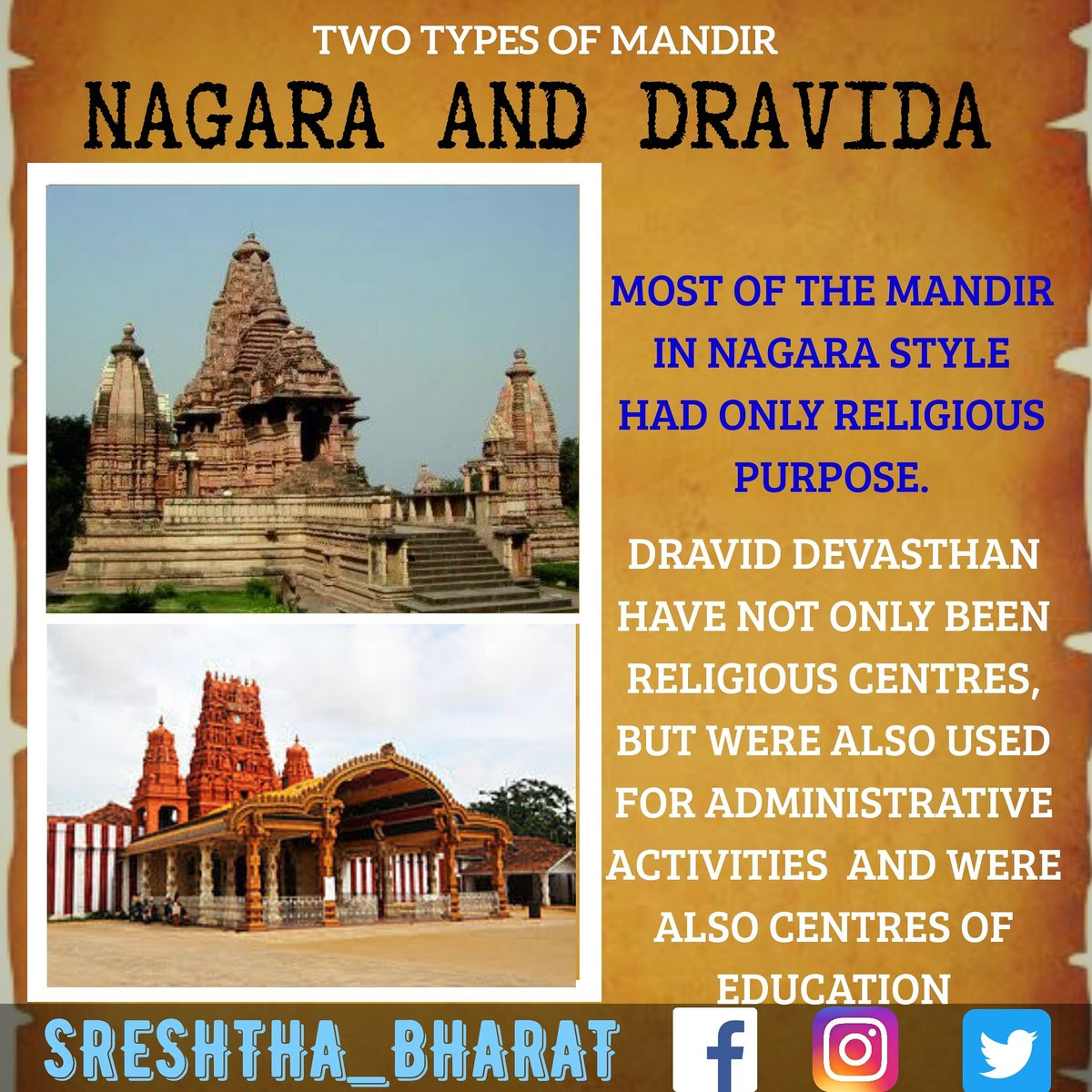 #temple_architecture  We will be getting closer to the Great Temple Architecture of our Sreshtha Bharat  Follow @Sreshthabharat on Facebook | Instagram | Twitter 🙏  #indianculture #indianarchitecture #hinduarchitecture #temple  #worship #templeworship #dravida #mandir #devasthan https://t.co/QiEWF2UeDD