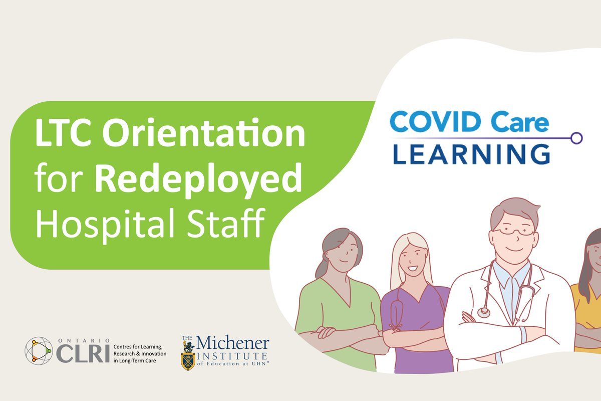 The rapid rise and severity of #COVID19 cases in #longtermcare has led to the urgent redeployment of health professionals to LTC. Weve partnered with @Baycrest and @MichenerInst to developed an LTC section on covidcarelearning.ca. Learn more ➡️ow.ly/WjxQ50zDXSz