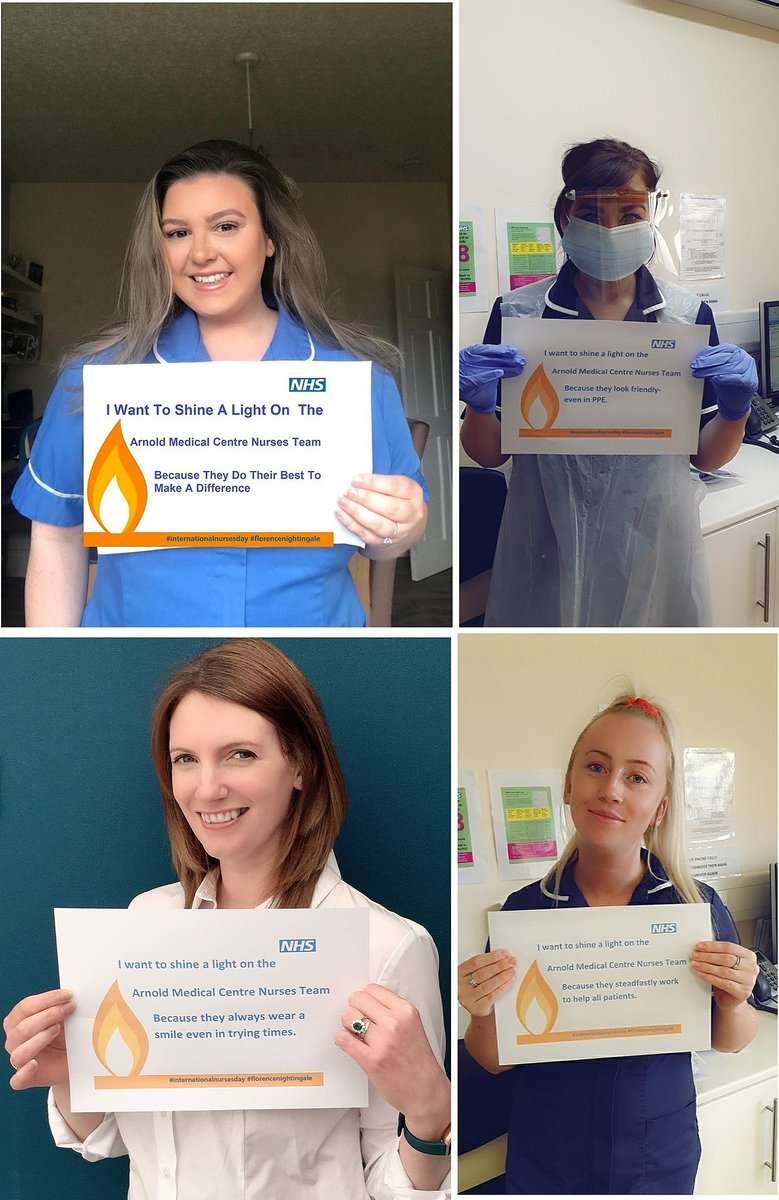 Arnold medical centre in Blackpool want a shout out to their nurses to shine a light on them this is #InternationalNursesDay. They want to shine a light on their team because they do their best to make a difference. #thankYouNurses #WeAreTheNHS @BplPatient_Exp @BlackpoolHosp