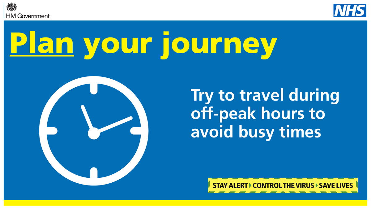 If you cannot work from home and have no alternative to public transport, avoid rush hour if possible. Find out more 👉 bit.ly/Travel_Safely #TravelSafely #StayAlert