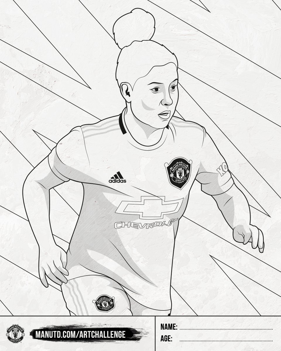 Manchester United Women On Twitter Rate Your Artistic Flair Bring This Marthah19 Drawing To Life With Colour And You Could Bag Yourself Some Great Prizes Https T Co Vka2dpqb3j Https T Co P8prrc4nzy