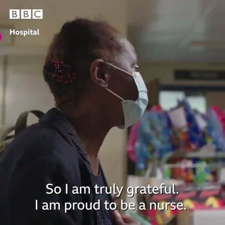 The incredible moment that community nurse Nancy thanked her @RoyalFreeNHS colleagues, who helped her recover from Covid-19 ❤️️ #Hospital #InternationalNursesDay