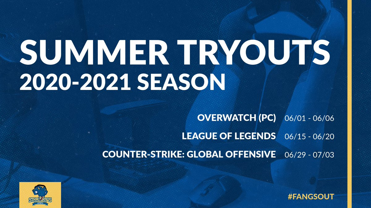 Rattlers, heres the full summer tryout schedule for the esports team! If youre interested in competing during the 2020-2021 season this information is for you! #FangsOut @StMarysU @StMarysRattlers ➡️Read More: rattlerathletics.com/news/2020/5/11…