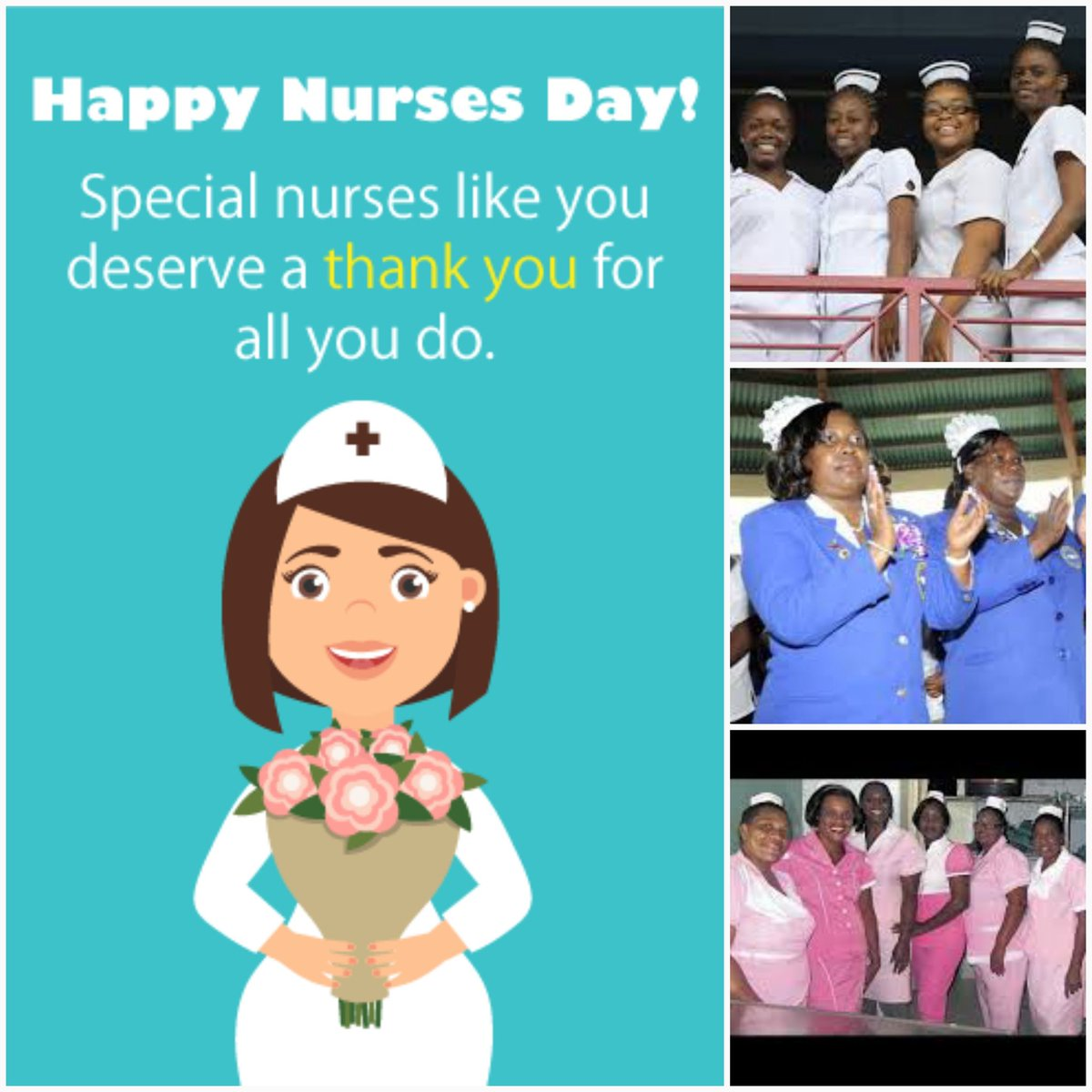 To all our wonderful Nurses who make sacrifices and care for the Jamaican people, sometimes under very difficult conditions.  May the care & kindness you give to others come back to you ten fold. May you be blessed with good health, happiness & abundance.  Happy Nurses Day 2020 https://t.co/tWnryzxpkJ