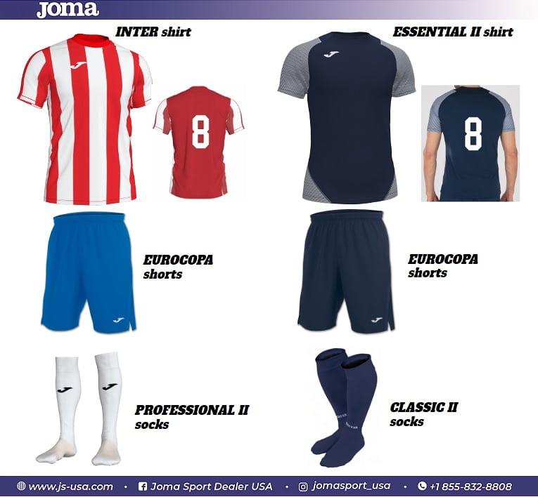 A nice #Joma Home and Away Uniform selection! Create your own using the 'Joma Soccer Kit Generator! https://www.js-usa.com/joma_soccer_kit_generator.php…  #jsusa #jersey #kitgenerator #soccer #futbol #football #calcio #futsal #sala #youthsoccer #usysa #usyfa #fifa #espnfc #goal #trainwithjoma #theJpic.twitter.com/io4oT7Fwps
