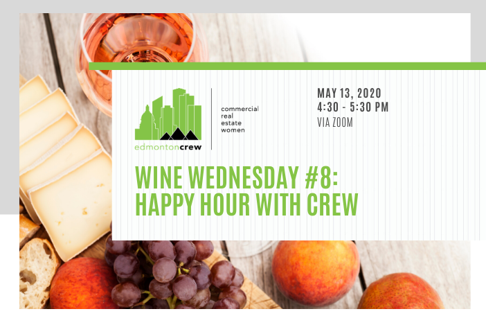 Shake up your isolation routine and join your favourite #crew for virtual #winewednesday - this week, ROSÉ!  @EdmontonCREW members only. Register at: https://bit.ly/3fFPqu1   #cre #womenincre #edmontoncrew #crewevents #crewovercovidpic.twitter.com/la5oKrrbmX