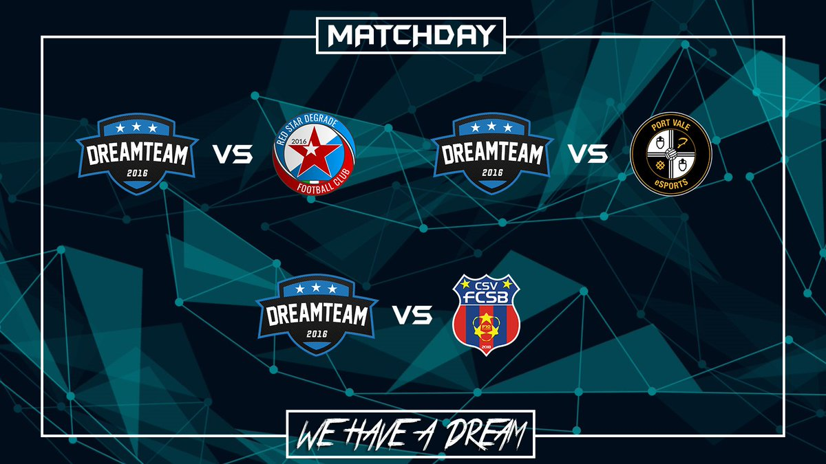 Matchday:  | @OfficialVPG Esports Cup | @RedStarDegrade  | 21:40  | @VPGChampNorth  | @PVFCeSports  | 22:00  | @VPGeCL  | @CSV_FCSB  | 22:30  #WeHaveADream #GoDreamers pic.twitter.com/gkXNGmzvN8