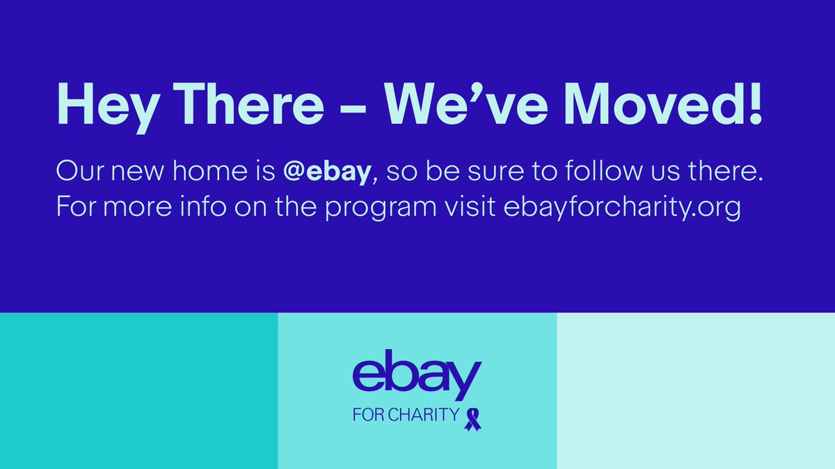Ebay For Charity Us Ebay4charityus Twitter
