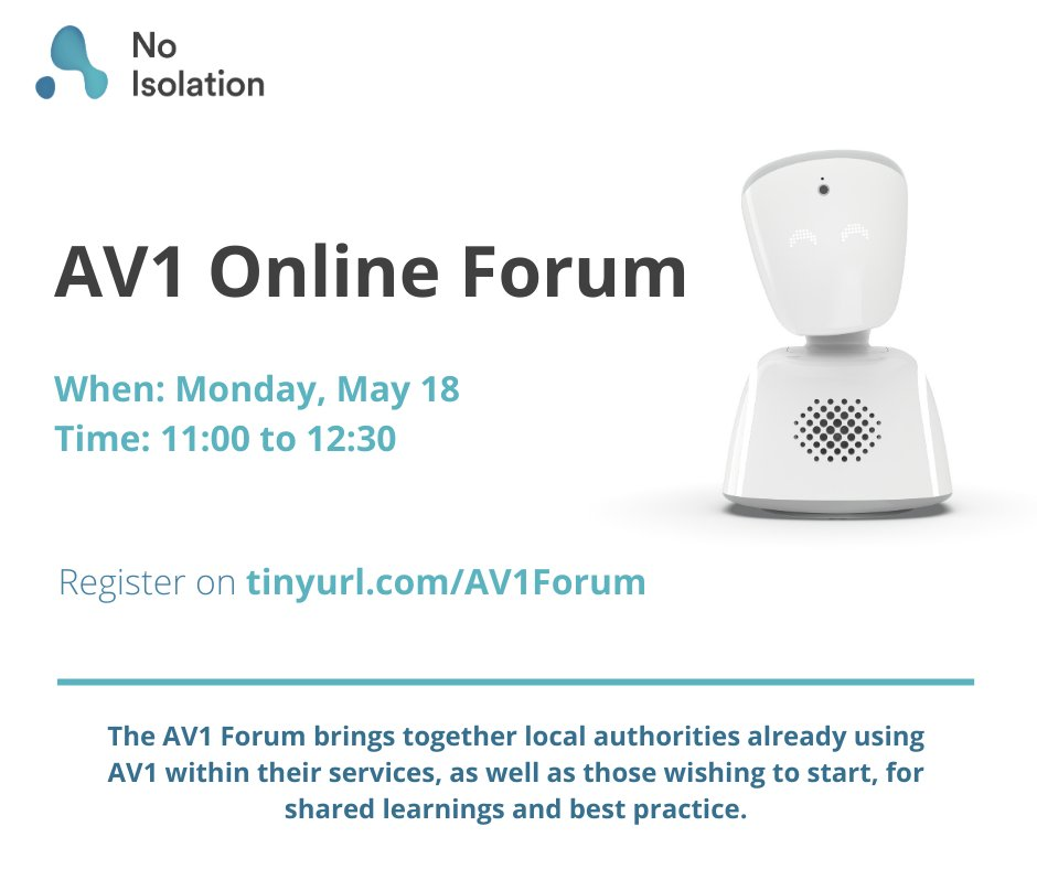 The AV1 Forum is now virtual, and taking place on Monday next week. The forum brings together local authorities already using AV1 as well as those wishing to start, for shared learnings and best practice. Register below, we look forward to seeing you there eventbrite.co.uk/e/av1-forum-on…