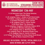 Image for the Tweet beginning: WEDNESDAY STREAMING SCHEDULE #VirtualWindsor #VirtualWindsor2020