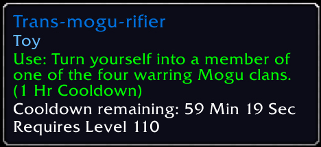 Yes: [Trans-mogu-rifier] #Warcraft