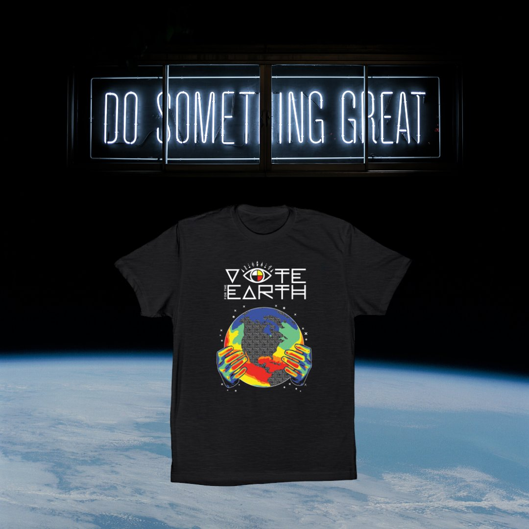Todays the last day to order a Vote for the Earth tee! buff.ly/3dFBvTa